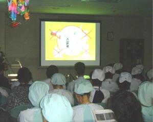 下関市の医療法人桃崎病院では、 「酸素の取り扱いについて」の研修会を行いました。